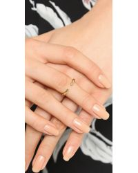 Campbell - Metallic Talon Midi Ring - Gold - Lyst