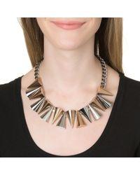 Sarah Magid | Metallic Mixed Metal Cone Necklace | Lyst