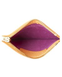 Sophie Hulme   Orange Small Zip Pouch Wallet   Lyst
