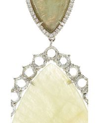 Marco Bicego - Multicolor One-Of-A-Kind 18K White Gold Sapphire And Rose Cut Diamond Earrings - Lyst