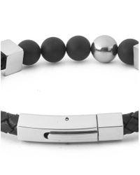 Vitaly | Perlen X Stainless Steel Magnetic Bracelet - Black for Men | Lyst