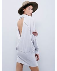 Free People | Gray Boom Boom Boom Tunic | Lyst