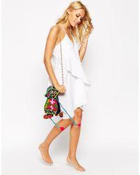 ASOS - White Petite Drapey Summer Sundress - Lyst