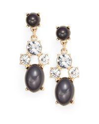 Saks Fifth Avenue - Gray Faux Pearl-accent Drop Earrings - Lyst