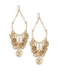 Saks Fifth Avenue | Metallic Floral Swing Chandelier Earrings | Lyst