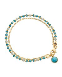 Astley Clarke | Be Very Cool Blue Beaded Friendship Bracelet | Lyst