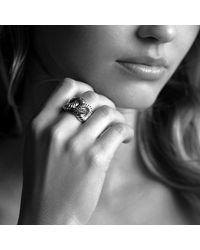 David Yurman - Metallic Large Pave Diamond Cordelia Ring - Lyst