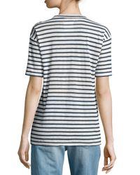 Étoile Isabel Marant - Blue Ken Striped Short-sleeve Tee - Lyst