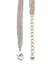 Forever 21 | Metallic Charming Chains Layered Necklace | Lyst