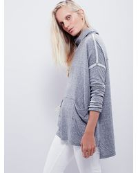 Free People - Gray Long Flight Pullover - Lyst