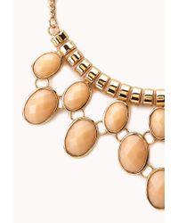 Forever 21 - Orange Posh Statement Bib Necklace - Lyst