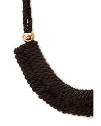 Forever 21 - Black Daring Braided Rope Necklace - Lyst