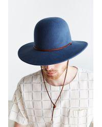 Brixton - Blue Tiller Fedora for Men - Lyst