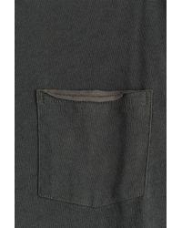 Rag & Bone - Gray Raw Edge Pocket Tee T-shirt - Green for Men - Lyst