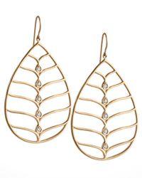 Jamie Wolf | Metallic 18k Gold Diamond Pear Earrings | Lyst