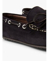 Mango | Blue Fringed Suede Shoes for Men | Lyst