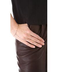 Jacquie Aiche | Metallic Ja Vintage Chain Finger Bracelet - Rose Gold | Lyst