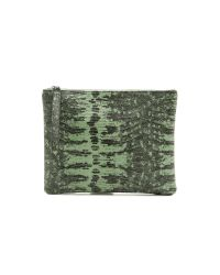 Rachael Ruddick - Green Lizard Embossed Pouch - Mint - Lyst
