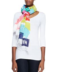 kate spade new york - Multicolor Sign Post Scarf - Lyst