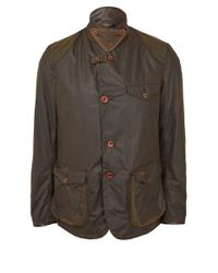 Barbour - Green Olive Beacon Waxed Sports Jacket for Men - Lyst