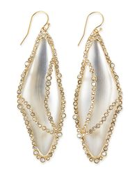 Alexis Bittar - White Crystalcaged Lucite Dragonfly Wing Earrings - Lyst