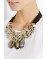 Marni Multicolor Crystal And Horn Necklace