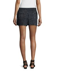 French Connection - Black Drawstring-waist Pleated-front Shorts - Lyst