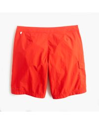 "J.Crew   Orange 9"" Board Short for Men   Lyst"