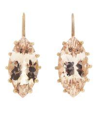 Andrea Fohrman | Metallic Marquis Morganite Earring | Lyst
