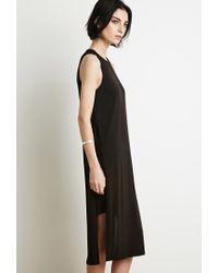 Forever 21 - Black Side-slit Midi Dress - Lyst