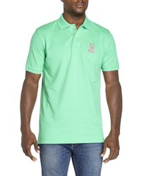 Psycho Bunny | Green Tall Bunny Polo for Men | Lyst