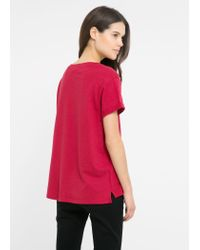 Mango - Red Choose T-Shirt - Lyst