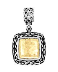 John Hardy | Metallic Classic Chain Palu Silver & Gold Pendant | Lyst