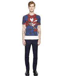 Marni - Blue Floral Printed Cotton Jersey T-shirt for Men - Lyst