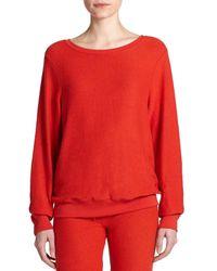 Wildfox - Red Boatneck Sweatshirt - Lyst