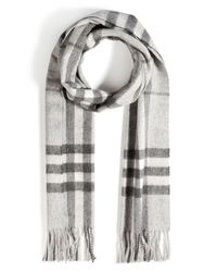 Burberry Brit | Gray Large Check Cashmere Scarf for Men | Lyst