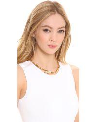 Rachel Zoe - Metallic Pave Pod Collar Necklace - Lyst