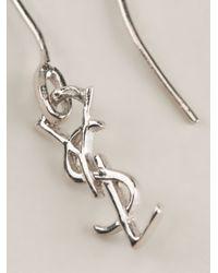 Saint Laurent - Metallic 'Monogram' Earrings - Lyst