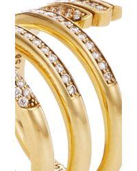 Monica Rich Kosann | Metallic Diamond Pave Mercury Wrap Ring | Lyst