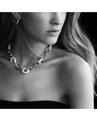 David Yurman - Extra-large Oval Link Necklace With Black Ceramic In 18k Gold - Lyst