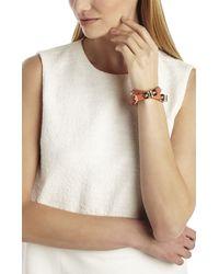BCBGMAXAZRIA - Metallic Icon-studded Wrap Bracelet - Lyst