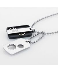 Storm | Metallic Cog Tag Pendant for Men | Lyst