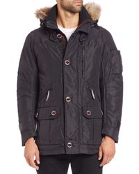 Rainforest | Black Thermoluxe Waxed Nylon Parka for Men | Lyst