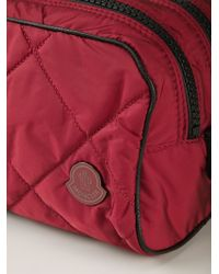 Moncler - Red Quilted Wash Bag - Lyst