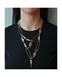 Lulu Frost | Metallic Kinship Pearl Necklace | Lyst