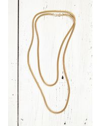 Free People | Metallic Vintage Gold Mesh Chain Necklace | Lyst