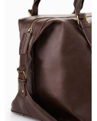 Mango - Brown Side-Tab Weekend Bag for Men - Lyst