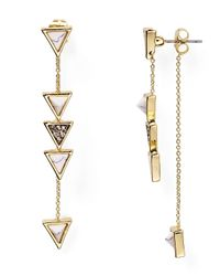 House of Harlow 1960 | Metallic 1960 Triangle Trellis Drop Earrings | Lyst