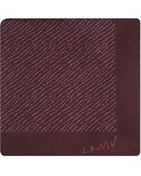 Lanvin | Red Tiger Print Silk Pocket Square - For Men for Men | Lyst