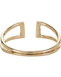 Jennie Kwon | Metallic Diamond & Gold Buckle Ring | Lyst